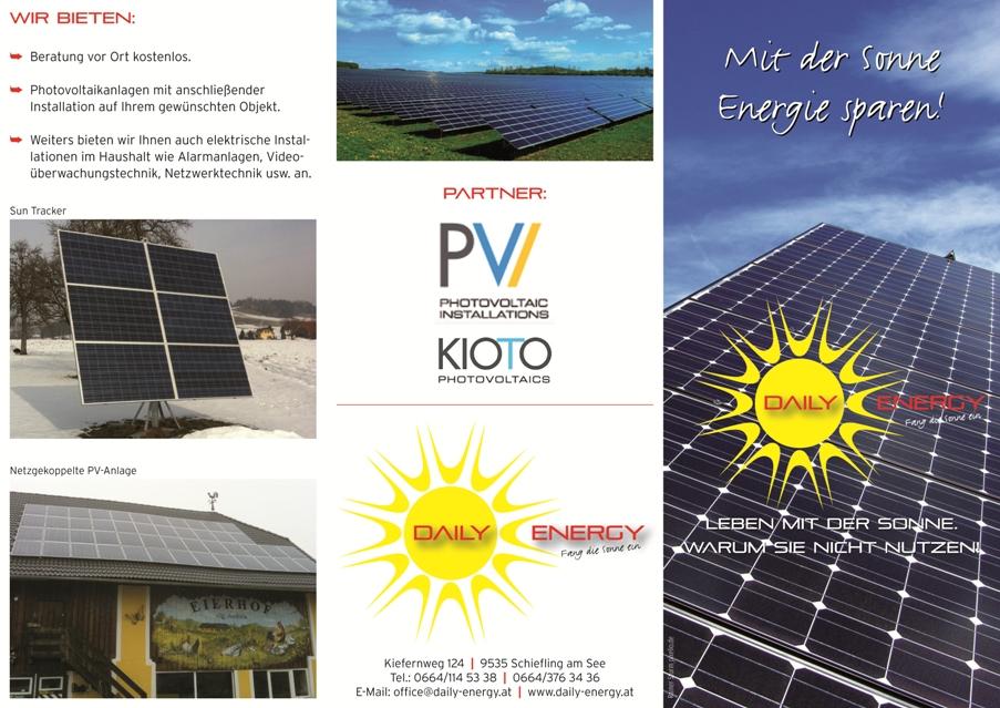 Folder Daily Energy - Vorderseiten